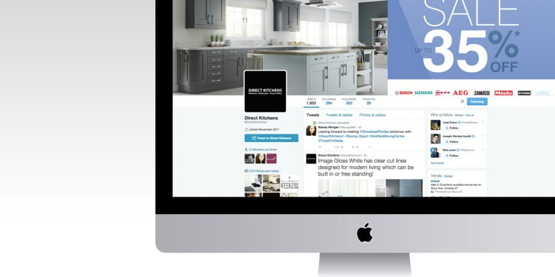 Direct Kitchens Twitter Profile @directkitchens1