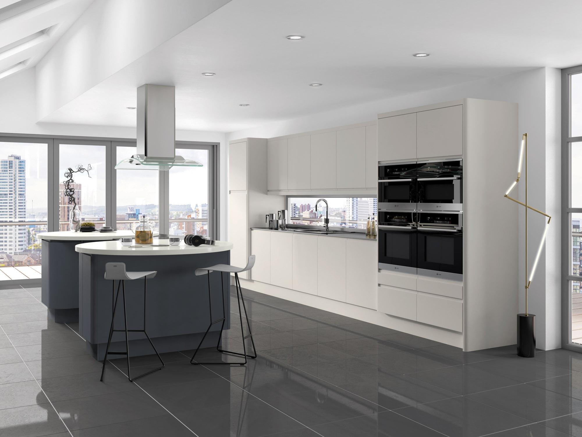 integra bleached stone with anthracite designer kitchen