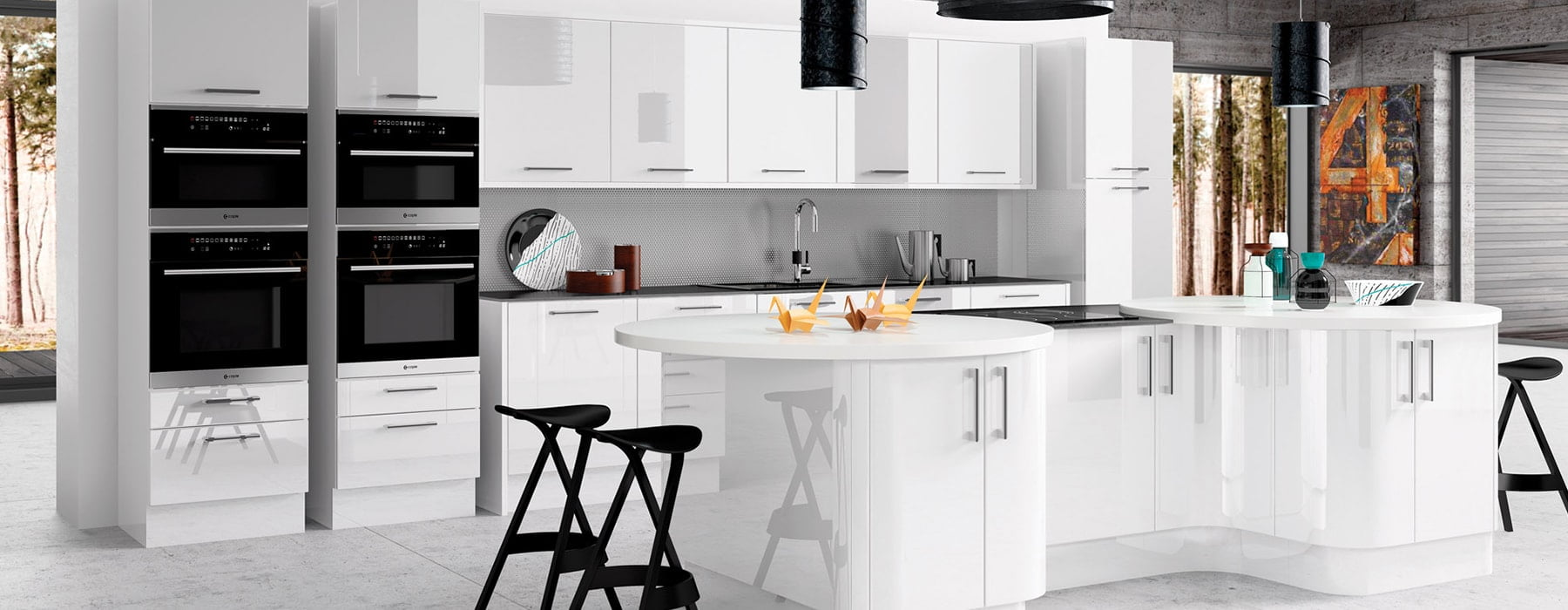 gloss white kitchen