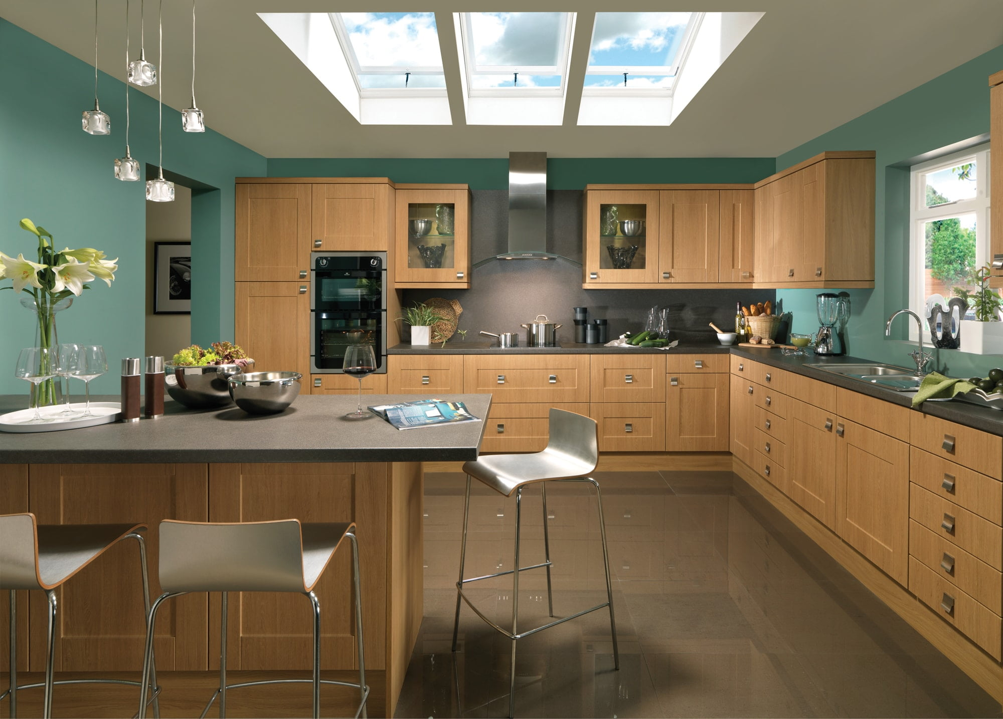 flaxley lancaster oak traditional kitchen