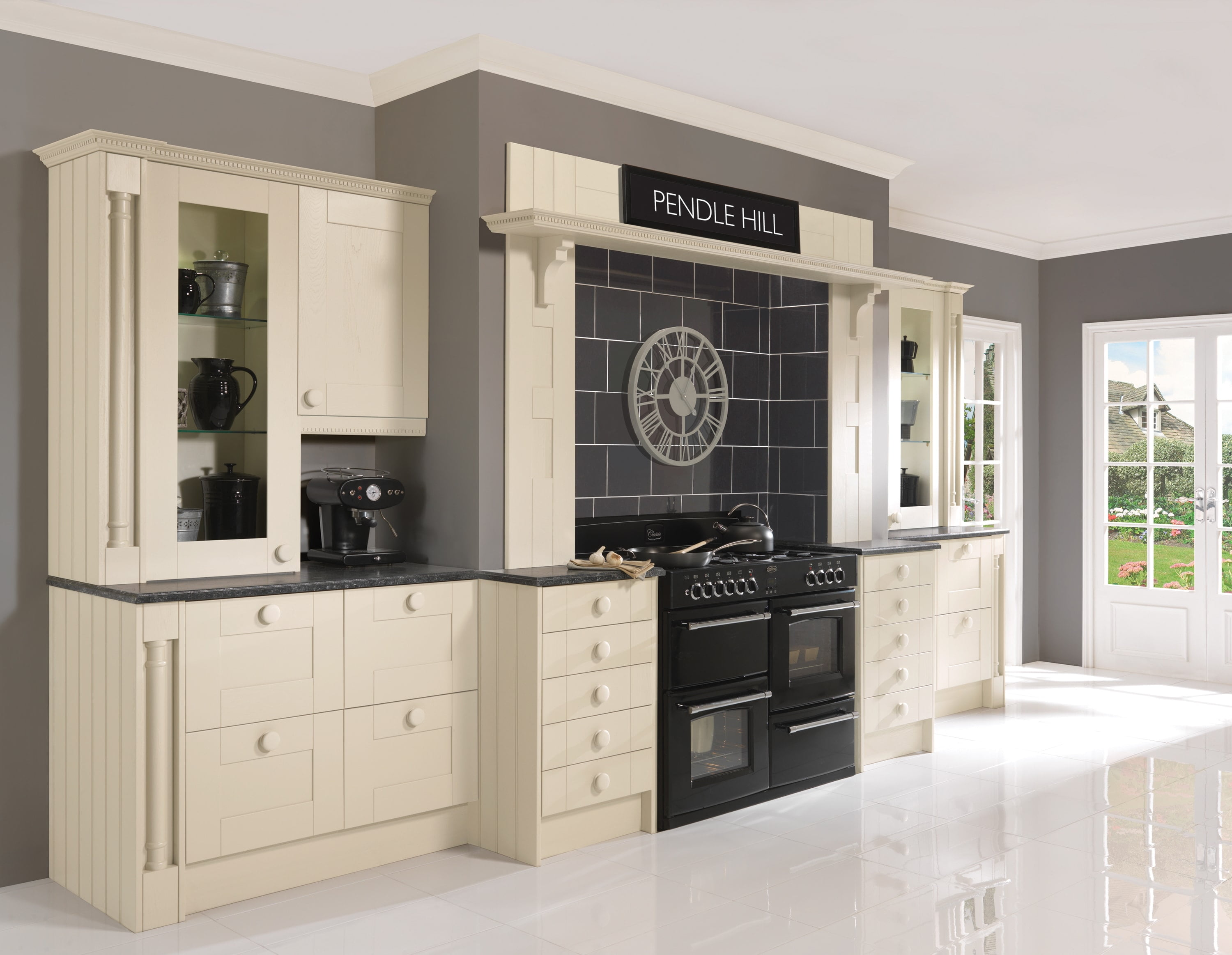 pendle cream in frame painted kitchen