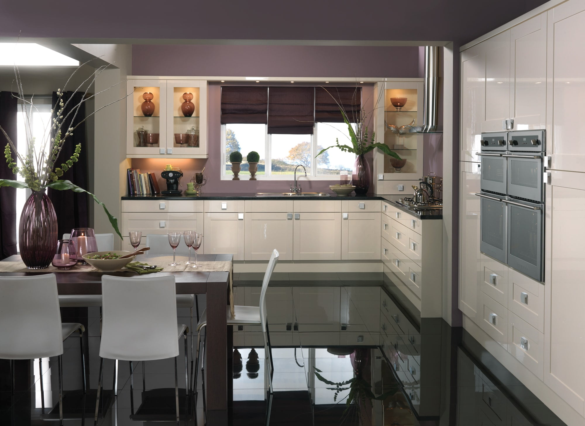 solent gloss white modern kitchen