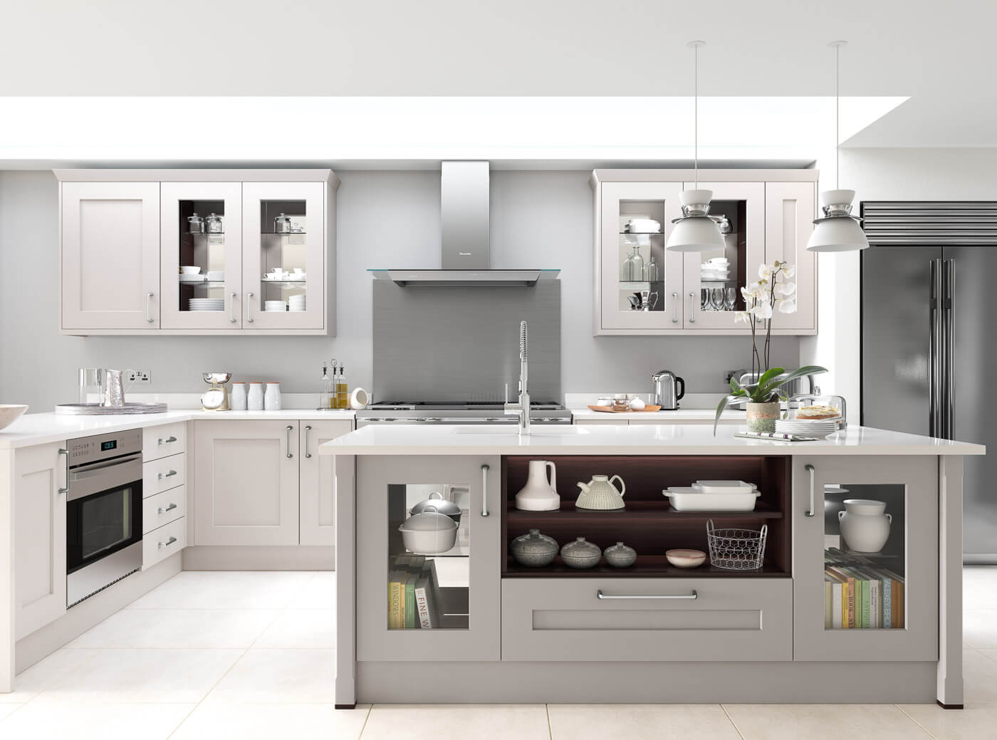 rivington bespoke calico dove and grey traditional kitchen