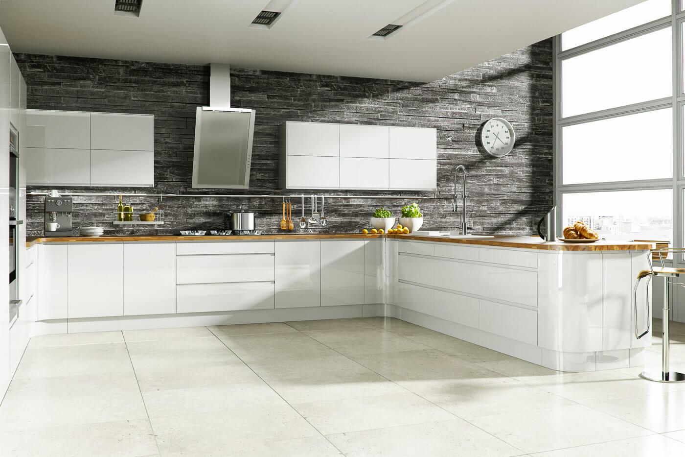 welford bright white modern designer kitchen
